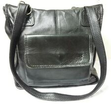 Vintage Frye Black Leather Shoulder Tote Handbag made in Colombia.