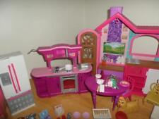 Matttel Barbie Sisters Cozy Cabin Fireplace Kitchen Furniture VHTF LOT
