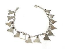 Bijou argent 925 bracelet coeur maille souple bangle