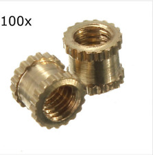 Suleve m3bn1 m3*4mm h62 Brass knurl NUTS DIY Accessories 100pcs