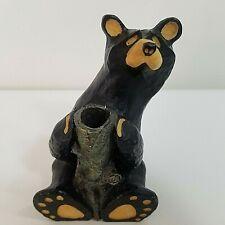 BEARFOOTS Figurine Bud Vase Honey Dipper Collectible Singing Tree Jeff Flemming