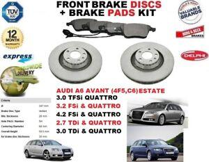 FOR AUDI A6 AVANT ESTATE 3.0 3.2 4.2 2.7 FRONT BRAKE DISCS SET + DISC PADS KIT