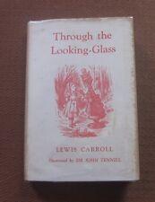 THROUGH A LOOKING GLASS by Lewis Carroll -HCDJ 1962 Macmillan Tenniel Alice