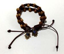 Shamballa Pine Wood Bracelet Men's & Woman's 6.5 to 7 inch Hamsa Hand