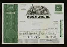 SEATRAIN LINES  Rail Car Ferry  New York  old stock certificate