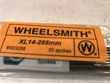 Wheelsmith XL-14-288mm Bicycle Silver Wheel Spokes 50 Spokes