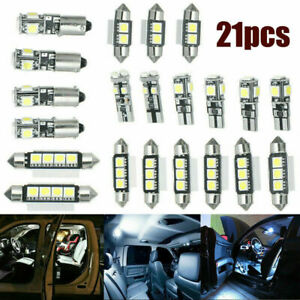 For Toyota Car Interior LED Light Kit Car Dome Door Footwell License Plate Bulbs