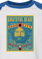GRATEFUL DEAD new blue T SHIRT   jerry garcia ALL SIZES s m lg xl bw raglan blue
