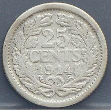 Nederland - The Netherlands kwartje, 25 cent, 1914 Silver - KM# 146