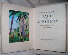 PAUL ET VIRGINIE ILLUSTRATIONS BRUNELLESCHI TIRAGE DE TETE NUMEROTE JAPON NACRE