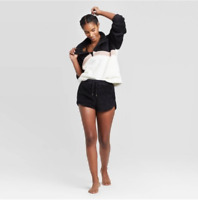 Women's Chevron Cozy Sherpa Lounge Sweatshirt - Colsie - Cream - S - C131