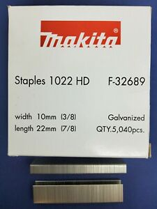 Makita Staples A11 / T50 10mm Crown 22mm Length x5040 F-32689 Suits Various