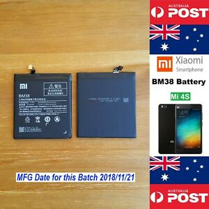 GENUINE Xiaomi Mi 4S (Mi4S) M4S Battery BM38 3260mAh Good Quality - Local Seller