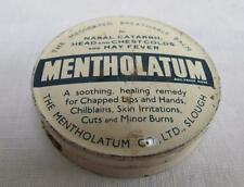 Vintage 1960's Advertising Mentholatum Balm Printed Tin Lidded Container