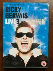 Ricky Gervais Live 3 Fame DVD Classic Stand Up Comedy