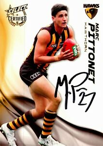 ✺Signed✺ 2016 HAWTHORN HAWKS AFL Card MARC PITTONET