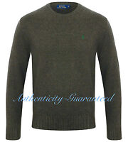 Ralph Lauren Polo Men's Crew Neck Cotton Knit Jumper Dark Grey RRP £110 SALE