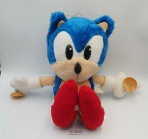 """Sonic The HedgeHog B1603 SEGA 1995 Plush 10"""" TAG Suction Toy Doll Japan"""