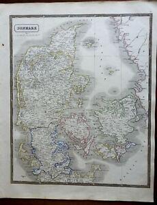 Kingdom of Denmark Jutland Fyn Copenhagen 1846 scarce map