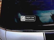DASH CAM RECORDING CAR VINYL STICKER  / DECAL/ BUMPER/ WINDOW/ camera