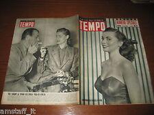 RIVISTA TEMPO 1951/20=BARBARA CLARK=LAUREEN BACALL=FERDI KUBLER=RITRATTI PARMA=
