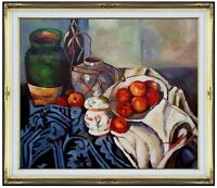 Framed, Quality Hand Painted Oil Painting Repro Paul Cezanne Still Life 20x24in