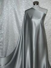 100 Silk Charmeuse Fabric Silver per Yard