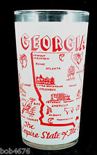 """VINTAGE 1960s GEORGIA """"Empire State of the South"""" SOUVENIR GLASS  4 3/4"""" tall"""