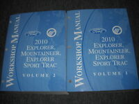 2010 FORD Explorer & SPORT TRAC Mountaineer SUV Repair Shop Service Manual Set