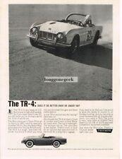 1962 Triumph TR-4 TR4 Race CarVtg Print Ad