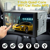 7'' Android 6.0 2 Din Autoradio Stéréo MP5 Player GPS Nav 3G 4G WiFi Bluetooth