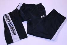 Youth Boys Under Armour L Black & White Pants Loose Fit
