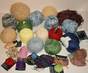 Large Mix Lot of Yarn Nobile Merterised Cotton Pink Yellow Green Red Blue White