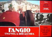 FANGIO UNA VITA A 300 ALL'ORA Italian fotobusta movie poster 1 FORMULA 1 FERRARI