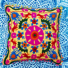 Hand Made cushion Cover Car Decor 16x16'' Suzanne Embroidered Pillow Case NDIRC3