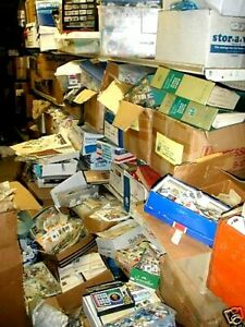 1000000's of STAMPS-ALBUMS-GLASSINES-MINT-SETS-Used-COLLECTION-DEALER-LOT of 100