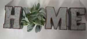 Metal Home Letters With Wreath Hobby Farmhouse Lobby