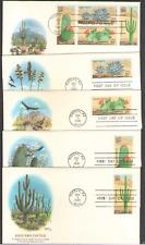 US. 1942-45. 20c. Desert Plants. Lot of 5. Fleetwood FDC. 1981