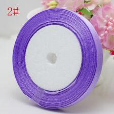 "Free Shipping wedding festival 25 Yards 3/8"" 10mm Craft Bows Satin Ribbon Lilac"