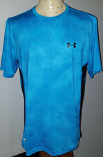 Under Armour Mens Athletic Fitted HeatGear T-Shirt XL Blue Dotted