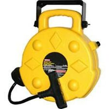 Bayco 15 Amp 4 Outlet Quad-Tap Retractable Reel 50 ft Power Cable Extension Cord