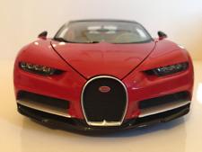 Bugatti Chiron Black and Red 1:18 Scale New Burago 11040