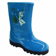 Kids Children out Door Classic Wellies Wellington Rainy Snow Printed BOOTS UK Size 8 / EU 25 Olaf