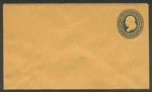 U.S. #U116a Mint Entire - 1c Dark Blue  ($50)