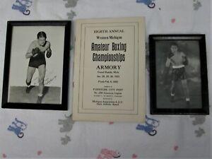Grands Rapids MI Wesley Ramey Autograph Photo Photograph Vintage Michigan Boxing
