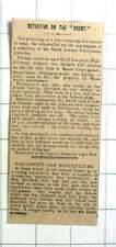 1909 Woda Smith Hairdresser Monte Cristo Parade Newington Green Suffers Theft