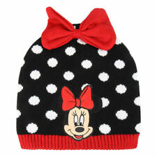 Boys Girls Kids Official Minnie Mouse Polka Dot Winter Hat One Size 4 - 8 Years