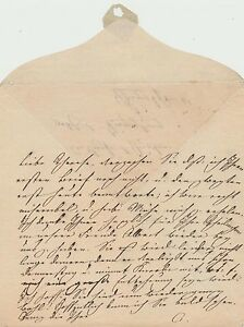 Queen Amalie of Saxony handwritten letter to sister in law re health & son visit