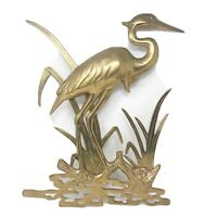 Vintage Brass Large Bird Wall Hanging Sculpture