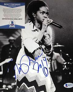 Lauryn Hill Fugees Singer Miseducation B&W Signed 8x10 Photo Beckett COA E2